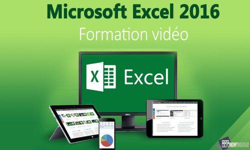 Formation vidéo Excel 2016