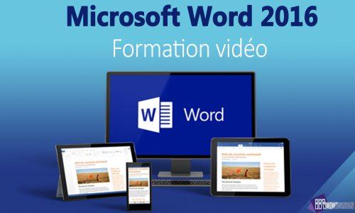Formation vidéo Word 2016